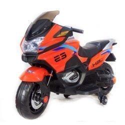 Электромотоцикл Moto XMX609 красный (колеса резина, сиденье кожа, музыка, страховочные колеса)
