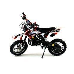 Мини кросс бензиновый MOTAX 50 cc бело зеленый (бензиновый, электро стартер, до 50 кг, до 45 км/ч, вариатор, тормоза дисковые механические)