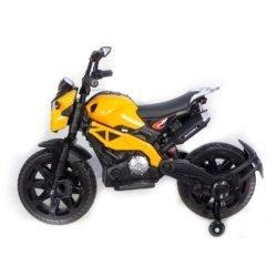 Детский электромотоцикл Harley Davidson - DLS01 оранжевый глянцевый (колеса резина, кресло кожа, ручка газа, музыка, свет)